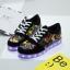 รองเท้ามีไฟ รองเท้า LED สีดำ มีลายเพ้นท์หลายสี เปลี่ยนสีได้ 11 สี สินค้าพรีออเดอร์ thumbnail 2