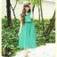 K840 หมดค่ะ เดรสสีเขียว ผ้าชีฟองคอจีนกระโปรงอัดพลีท น่ารักๆ thumbnail 1