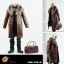 POPTOYS F16-B BROWN The Mafia style leather dress suit thumbnail 1