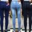 Skinny Jeans สกินนี่ ผ้ายีนส์ยืด ขาเดฟ เอวสูง มี 3 สี สีกรม สีดำ สีซีด กระเป๋าเดินด้าย thumbnail 1