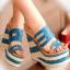 [มีหลายสี] รองเท้าผู้หญิง ส้นตึก หัวปลา แฟชั่นหนังpu ทรงน่ารัก สไตล์เกาหลี มีสายรัดข้อ แพลตฟอร์มสูง 3 นิ้ว / ส้นสูง 5.5 นิ้ว thumbnail 1