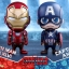 Hot Toys COSB323 CAPTAIN AMERICA(L), COSB324 IRON MAN MARK XLVI (L) thumbnail 1
