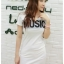 K1052 หมดค่ะ เดรสสกรีนลายMusic สีขาวน่ารักมากจร้าา thumbnail 1