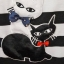 S134 เดรสลายขวางขาวดำ งานปักลายแมว น่ารักมากค่ะ (มือ2 สภาพดี) thumbnail 3