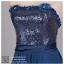 ld3033 ชุดราตรียาว สีน้ำเงิน ช่วงบนปักกลิตเตอร์อย่างดี ต่อกระโปรงผ้าชีฟองพรีเมี่ยม สวย หรู เซ็กซี่ โดดเด่นมากค่ะ thumbnail 7