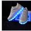 รองเท้ามีไฟ รองเท้า LED สีเงิน เปลี่ยนสีได้ 11 สี สินค้าพรีออเดอร์ thumbnail 5