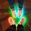 รองเท้ามีไฟ รองเท้า LED สีขาว มีแถบสีแดงดำ เปลี่ยนสีได้ 11 สี สินค้าพรีออเดอร์ thumbnail 8
