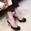 [มีหลายสี] รองเท้าส้นสูง แฟชั่นหนัง pu คีบนิ้วโป้ง คาดหน้าพลาสติกใส พื้นขนเฟอร์ ส้นสูง 3 นิ้ว thumbnail 3