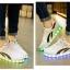 รองเท้ามีไฟ รองเท้า LED สีขาว มีแถบสีดำ2เส้น เปลี่ยนสีได้ 11 สี สินค้าพรีออเดอร์ thumbnail 6
