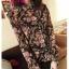 K1004 หมดค่ะ เสื้อเชิ๊ตลายช่อดอกไม้สวยมากจ้า+เข็มขัดด้วยค่า thumbnail 1