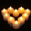 เทียน LED เทียนใส่ถ่าน เปลวไฟกระพริบเหมือนไฟจากเทียนจริง แสงสีส้ม thumbnail 1