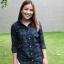 เสื้อเชิ้ตลายสก๊อตผู้หญิงสีเขียว ผ้านำเข้าจากญี่ปุ่น thumbnail 2