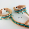 Anklet to Toe La Turquoise
