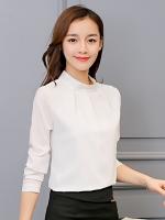 เสื้อทำงานผู้หญิงสีขาว แขนยาว 4-147RX-ขาว