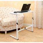 Pre-order โต๊ะทำงานปรับระดับ โต๊ะแล็ปท็อป โต๊ะวางคอมพิวเตอร์ โต๊ะพรีเซนต์งาน เฟอร์นิเจอร์ตกแต่งบ้าน ตกแต่งห้อง ปรับระดับได้ มีล้อเลื่อน สีขาว