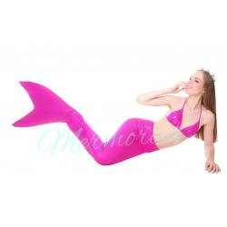 Princess Pink Glitter Mermaid Tail ( แถมเสื้อ )