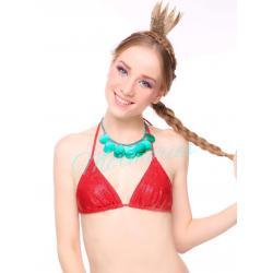 Macaws Red Glitter แบบ Bra + Bikini