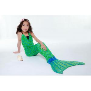 Emerald Green Mermaid Tail Set เสื้อแบบผูกคอ