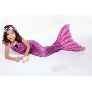 Violet Scale Mermaid Tail Set เสื้อแบบผูกคอ