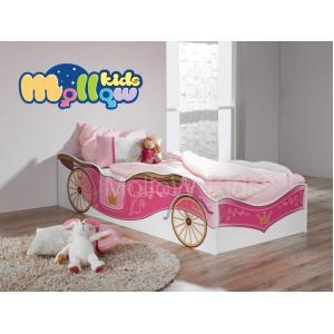 เตียงเด็กผู้หญิง รุ่น Princess Carriage ลาย ราชรถซินเดอเรล่า