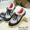 พร้อมส่ง : รองเท้าผ้าใบ MIUMIU Jeweled Satin Lace-Up Sneaker (สีชมพู)