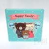 """อัลบั้ม 100 รูป (4x6"""") Happy Family ลายครอบครัวหมี สีมิ้นท์"""