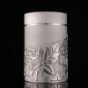 (พรีออเดอร์) แก้วน้ำชาดีบุกหล่อ ใส่น้ำร้อน-น้ำเย็น สีเงิน มี 3 ลาย คือ ลายดอกโบตั๋น ลายดอกไม้ และลายมังกร