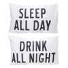 ปลอกหมอนหนุนคู่ Sleep & Drink สีขาว
