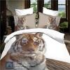 (Pre-order) ชุดผ้าปูที่นอน ปลอกหมอน ปลอกผ้าห่ม ผ้าคลุมเตียง ผ้าฝ้ายพิมพ์ 3D รูปเสือ