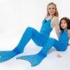 Blue Scale Mermaid Tail Set เสื้อแบบผูกคอ