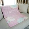 ผ้าห่มเด็ก ใส่ประวัติแรกเกิด ลาย Moon - Pink