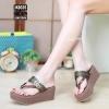 รองเท้าแตะคีบ Style Gucci (สีน้ำตาล)