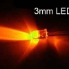 LED Lamp 3mm Round,780-2900mcd, Orange Color จำนวน 8 หลอด