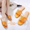 รองเท้าแตะ Style Hermes ฉลุลาย (สีส้ม)