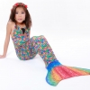 Rainbow Scale Mermaid Tail Set เสื้อแบบผูกคอ