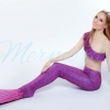 Violet Scale Mermaid Tail Set เสื้อแบบไหล่เฉียงครึ่งตัว
