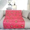 ผ้าห่ม ใส่ชื่อ Monkey Pattern - Shocking pink ไซส์ใหญ่ 100x150cm