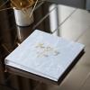 """อัลบั้ม 100 รูป (4x6"""") พร้อมส่ง ลาย หินอ่อนสีเทา พร้อมข้อความ The story of us"""