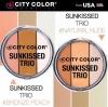 **พร้อมส่ง*City Color Sunkissed Trio ปัดแก้ม บรอนเซอร์ และไฮไลท์ 3 เฉดสีในตลับเดียว ปัดแก้ม บรอนเซอร์ตีกรอบหน้า และไฮไลท์เพื่อผิวหน้าที่กระจ่างสมบูรณ์แบบ เนื้อแป้งทำจากสารสกัดแร่มิเนอรัล ช่วยดูดซับความมัน เม็ดสีแน่นเนื้อละเอียดนุ่มลื่นเกลี่ยง่ายติดทนตลอดท