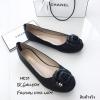 รองเท้าคัทชู Style Chanel (สีดำ)