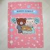 ผ้าห่มเด็ก ใส่ชื่อ ลายครอบครัวหมี สีชมพู / Teddy's Family - Pink