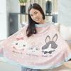 ผ้าคลุมให้นม สั่งทำใส่ชือ ลาย Rabbit Family - Pink
