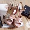 พร้อมส่ง : รองเท้าส้นเข็ม YSL Tribute สีชมพูนู๊ด (รุ่นหนังแก้ว)