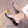 รองเท้าแตะริสตัลสไตล์แฟชั่นเกาหลี (สีเงิน)