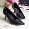 รองเท้าส้นสูงหนังนิ่ม (สีดำ)