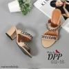 รองเท้าส้นตัน Style Givenchy (สีครีม)