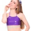Purple Glitter แบบผูกคอครึ่งตัว
