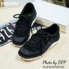 พร้อมส่ง : รองเท้าผ้าใบ MIUMIU Jeweled Satin Lace-Up Sneaker (สีดำ)