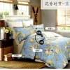 (Pre-order) ชุดผ้าปูที่นอน ปลอกหมอน ปลอกผ้าห่ม ผ้าคลุมเตียง ผ้าฝ้ายอเมริกาพิมพ์ลายดอกไม้สไตล์วินเทจ โทนสีฟ้า