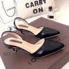 รองเท้าหัวแหลมรัดส้น Style Zara (สีดำ)